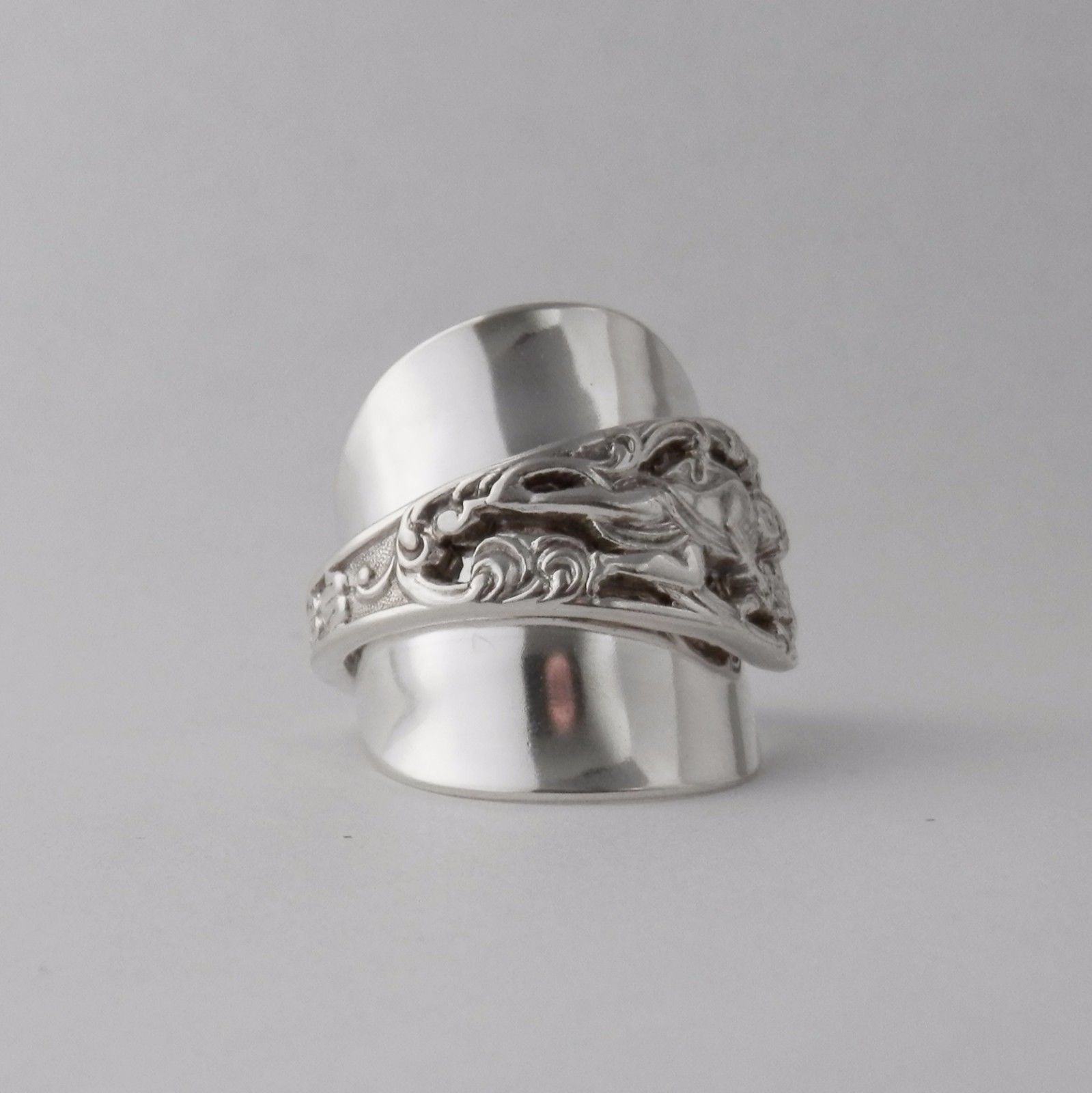 Spoon Ring Heavy Handmade Antique Sterling Silver 925